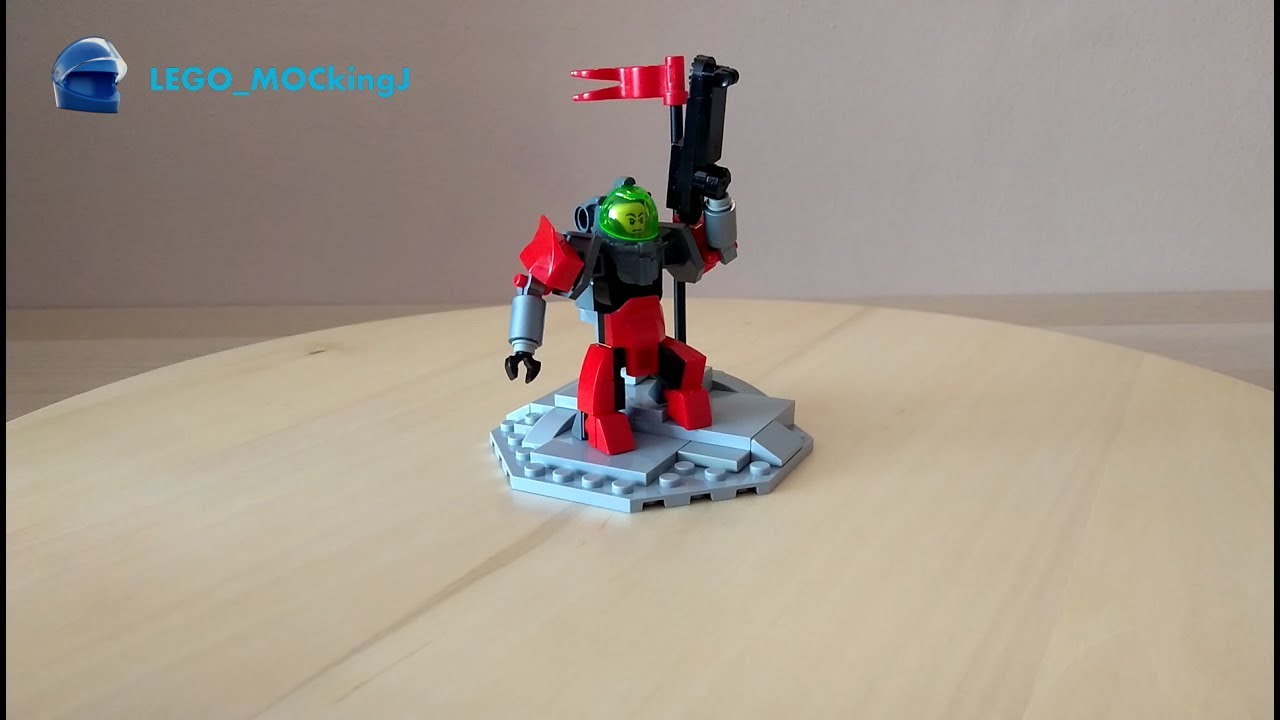 How To Build Lego Terran Marine From Starcraft Moc 7 Youtube