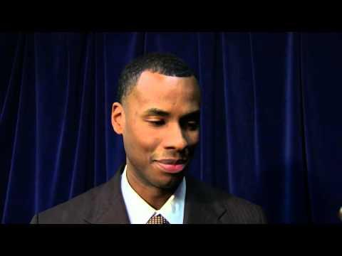 Halfcourt Interview with Warriors Assistant Coach  - Jarron Collins