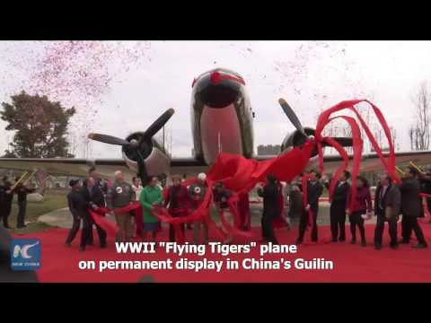 "WWII ""Flying Tigers"" plane settled in China for permanent display"