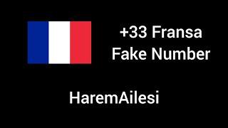 +33 Fransa Fake Number (İnstaVocie)