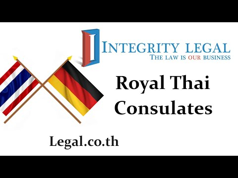 The Royal Thai Consulate General In Frankfurt, Federal Republic Of Germany