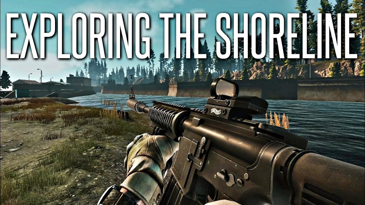 EXPLORING WITH THE M4A1 - Escape From Tarkov Shoreline Gameplay