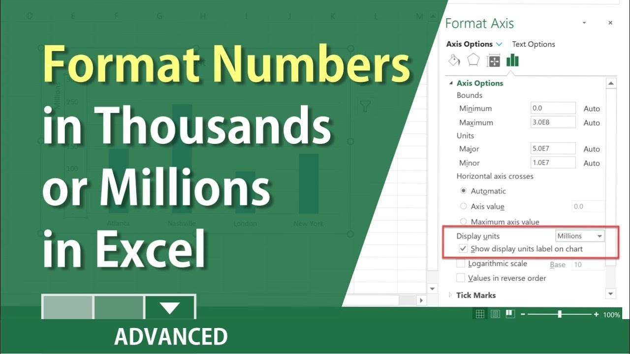 Excel How To Format Numbers In