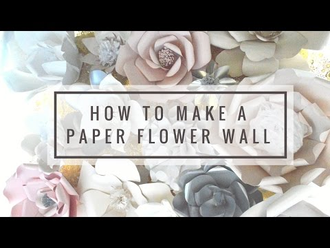 How to Make a Large Paper Flower DIY TUTORIAL
