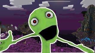 Minecraft - PSYCHO DAME TU COSITA BASE CHALLENGE! (Dancing Green Alien)