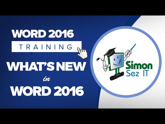 Microsoft Word 2016 Training Tutorials