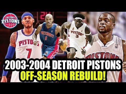 FIXING THE DARKO MISTAKE! 2003-2004 DETROIT PISTONS OFF SEASON REBUILD! NBA 2K18 MY LEAGUE