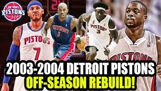 FIXING THE DARKO MISTAKE! 2003-2004 DETROIT PISTONS OFF SEASON REBUILD! NBA 2K18 MY LEAGUE