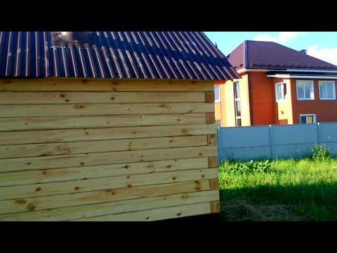 Баня 4х4 из бруса с террасой # п. Борисоглебск