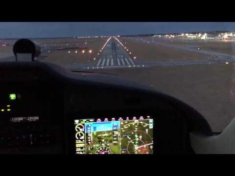 Tecnam P2008 night landing