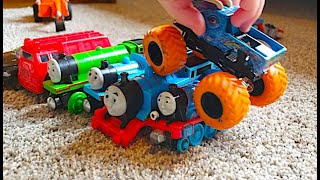 Play Time With Evan! Thomas Mini Trains - Monster Trucks - Toy Tractors
