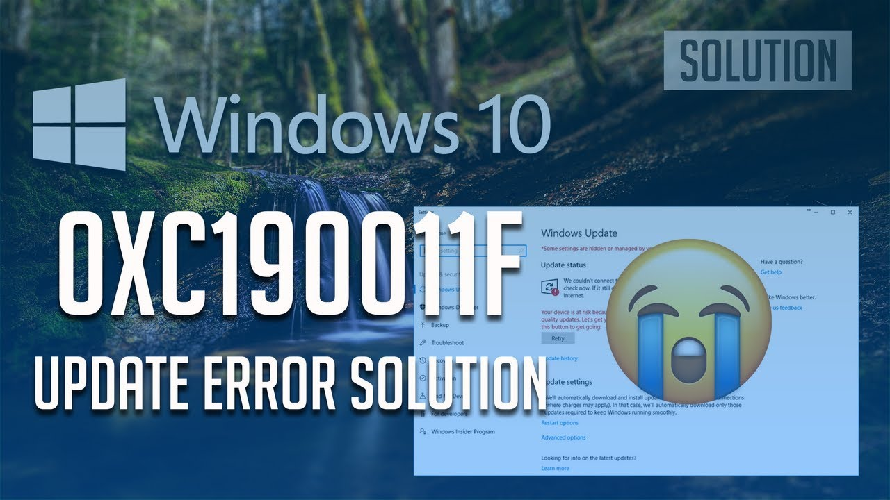Fix Windows Update Error 0xc190011f in Windows 10 [6 Solutions] 2019 by  TechFixIT