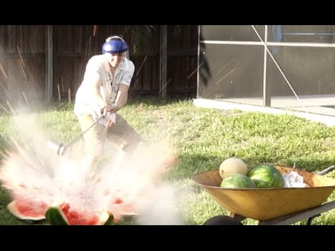 Thumbnail: Pouring Molten Salt in Watermelons!