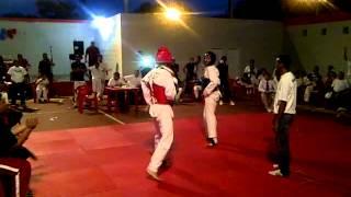 Taekwondo Altagracia Roman Granadillo (Peto rojo). ZULIA