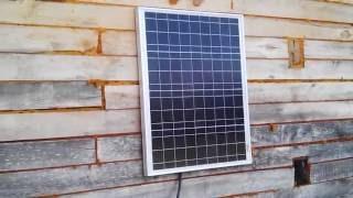 видео Поликристаллическая солнечная панель 100W-12V (120-104) от производителя