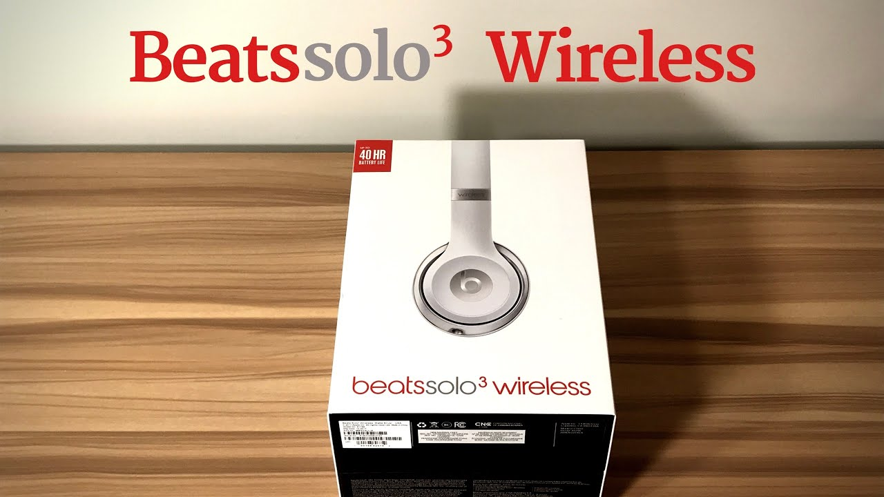 Beats Solo 3 Wireless Unboxing Matte Silver Special Edition Youtube