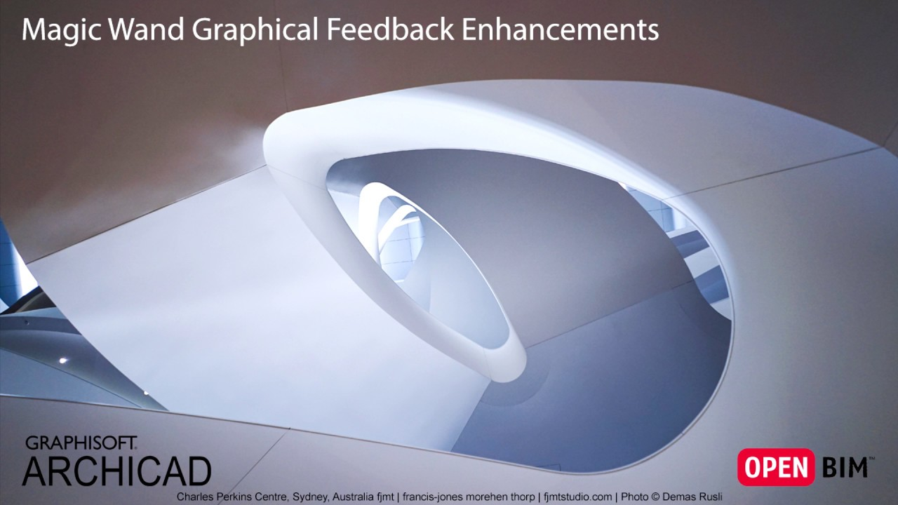 ARCHICAD 21 - Magic Wand Graphical Feedback Enhancements - YouTube