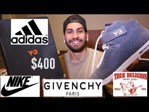$400 Y-3 SNEAKERS FOR $40!!! TRIP TO THE THRIFT: GIVENCHY, AIRMAX, CARHARTT,TRUE RELIGION +MORE!!