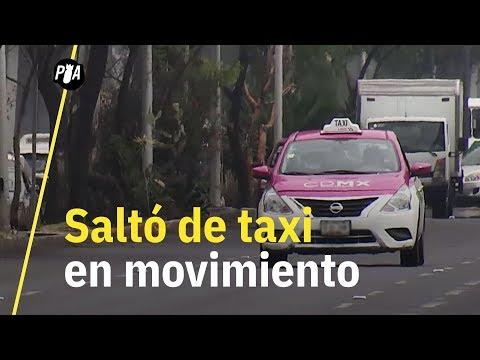 Se arrojó de un taxi para escapar; la historia de Montserrat en un taxi de CDMX