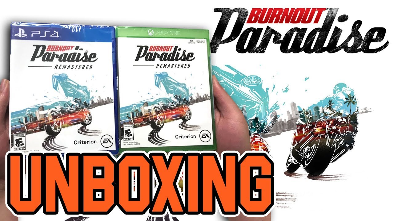 burnout paradise remastered ps4 xbox one unboxing. Black Bedroom Furniture Sets. Home Design Ideas