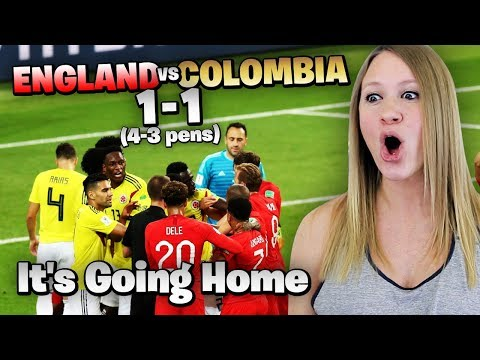 ENGLAND VS COLOMBIA!! LIVE REACTION !