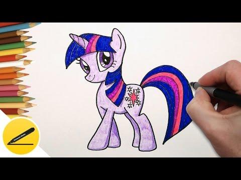 Как Нарисовать Пони Искорку | Рисуем Пони Твайлайт Спаркл поэтапно