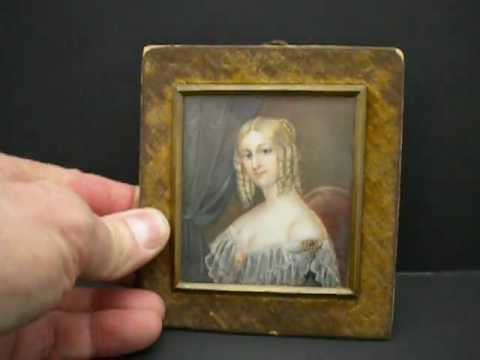 Sold! Antique Miniature Portrait Painting Painter Theer For Sale on eBay