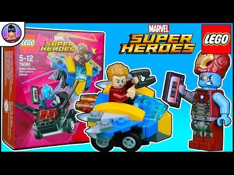New 2018 Lego Mighty Micros Review!  Nebula steals StarLords MixTape! Lego Starlord Vs Nebula 76090