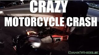 Wild Wheelie Crash! - Late Night Group Ride