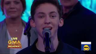 Andrew Barth Feldman And The Cast Of Dear Evan Hansen Perform 'You Will Be Found' On GMA