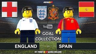 Goal Collection England vs Spain • Preview Nations League 2018 • Inglaterra España in Lego Football