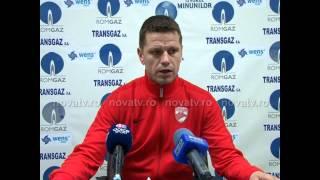 Flavius Stoican după egalul cu Gaz Metan - novatv.ro