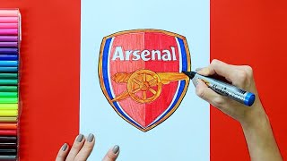 How to draw and color the Arsenal F.C. Logo