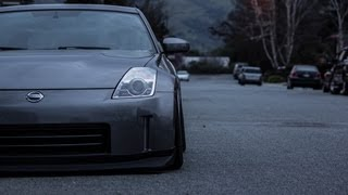 350z straight pipe exhaust cruising and wot inside and outside of car