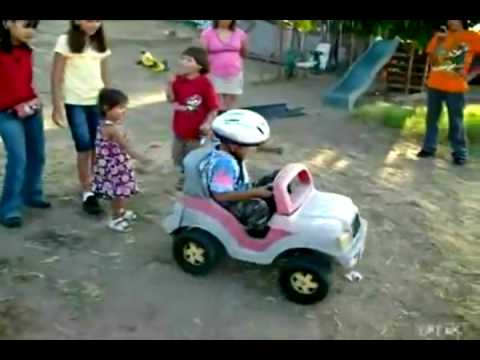 Kid Driving A Toy Truck Gif