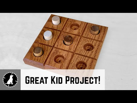Scrap Wood to Tic Tac Toe Board - Great Woodworking Project to Include Kids!