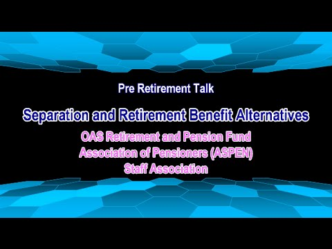OAS Retirment and Pension Fund Pre Retirement Talk 2016-06-13