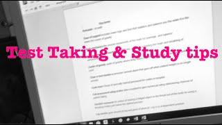 LVN School | Test Taking & Study tips