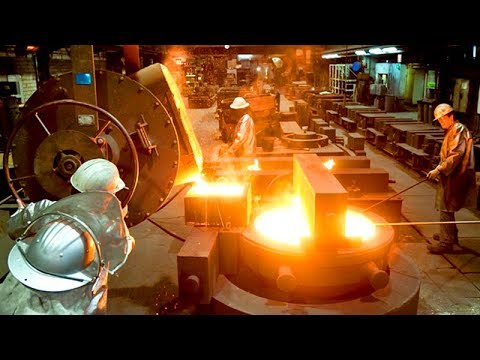 Amazing Automatic Steel Casting Manufacturing Factory, Modern Fast Metal Casting Machinery Line
