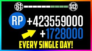 THE FASTEST & EASIEST WAY TO RANK UP IN GTA ONLINE - EARN OVER 2,000,000 RP PER DAY! (RANK UP FAST)