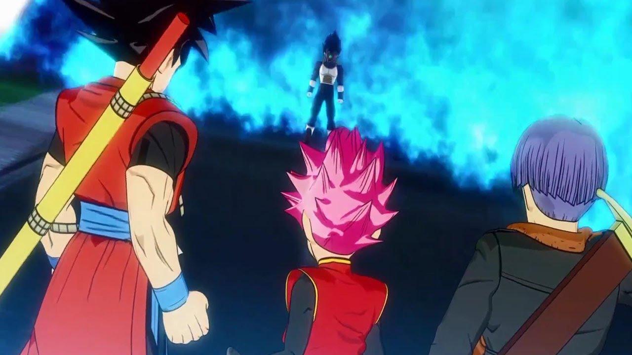 new dragon ball heroes time breaker vegeta vs time patrol goku