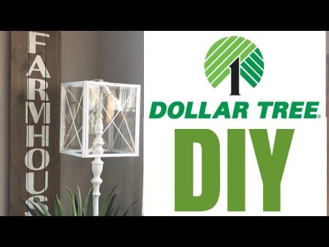 DOLLAR TREE FARMHOUSE DIY || LANTERN LAMPSHADE