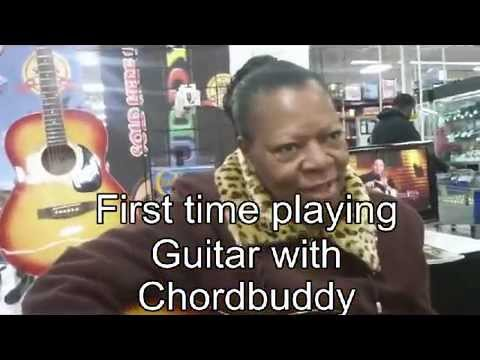 Woman Playing Guitar For The First Time With The Chordbuddy Youtube