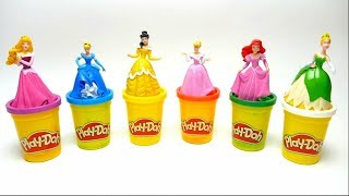 Play Doh Disney Princess Ariel and Cinderella Nursery Rhymes Finger Famely Song