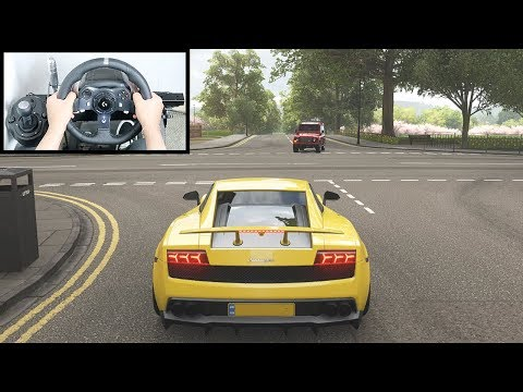 Forza Horizon 4 Lamborghini Gallardo (Logitech G920 Steering Wheel + Paddle Shifter) Gameplay