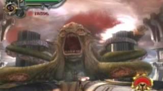 God of War 2 - God Mode - Walkthrough - Part 44 - El Kraken - HQ