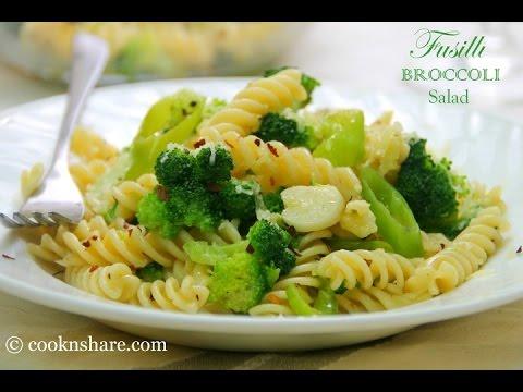 Spicy Fusilli and Broccoli Pasta Salad