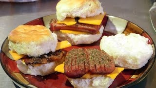 Cannabis Infused Smoked Sausage/ Bacon Breakfast Biscuits (Single Serving Recipe): Infused Eats #30