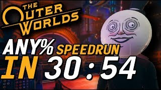 The Outer Worlds Any% Speedrun in 30:54 (34:36 RTA)