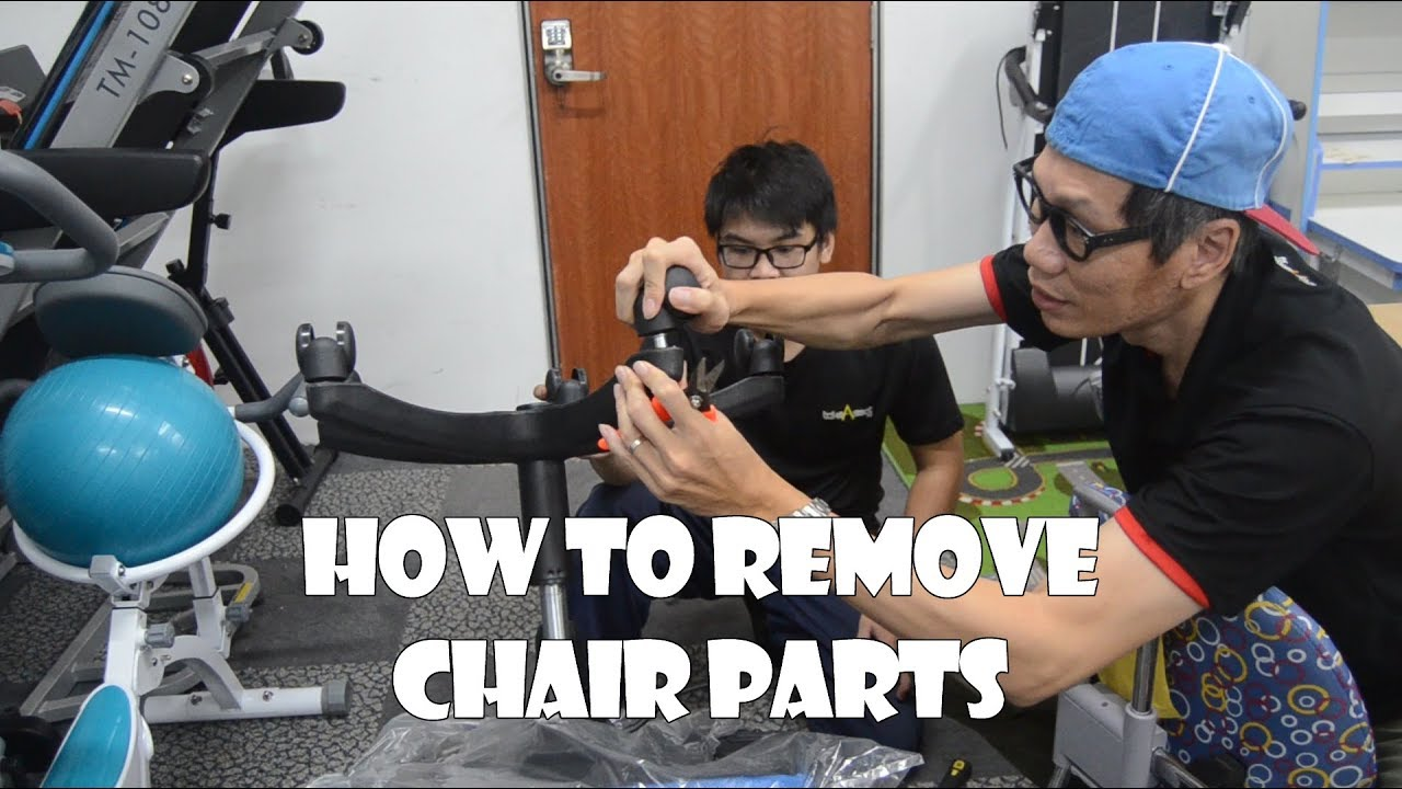 Chair Gym Parts Rolling Ride Atlantic City Removing Office S Accessories Youtube